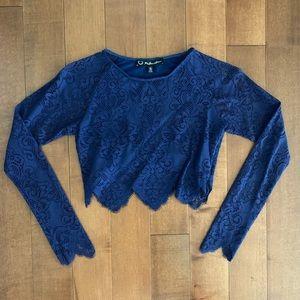 FOR LOVE & LEMONS 🍋 Lace Crop Top